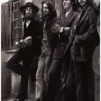 Beatles Hey Jude Charcoal Art Poster 11x17