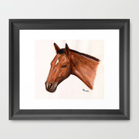 Cheval / Horse Framed Art Print by Savousepate