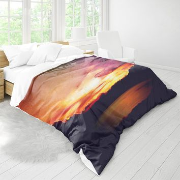 Duvet Cover With Colorful And Abstract Nature Print, Artwork Bed Linen, Boho Bedding, Home Decor, Bed Decor, Positive Design, Dorm Bedding