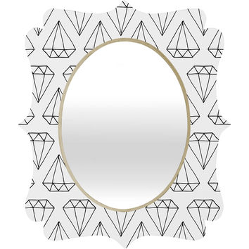 Wesley Bird Diamond Print 2 Quatrefoil Mirror