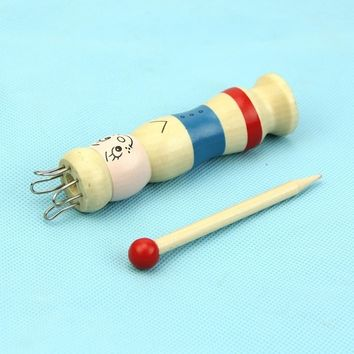 Wooden Yarn Wool Knitter Knitting DIY Doll Craft Loom Rope Braided Maker
