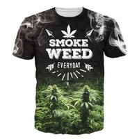 2017 Weed Everyday T-Shirt Women Men 3d Printing t shirt Casual Summer Style Tees Sport Tops Fashion Clothing Drop Ship  [10312516483]