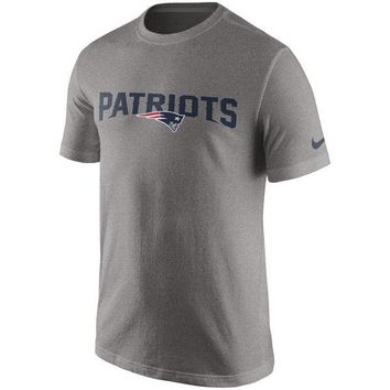 e6295f5fa Men's New England Patriots Nike Gray Essential Wordmark T-Shirt