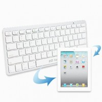EC TECHNOLOGY� Super Slim Mini Bluetooth 3.0 Wireless Keyboard For iPad 1 2 3 4 iPad Mini, iPhone 5 iphone 4S iPhone 4, PC, Notebook, Smartphone With Android 3.0 above, Windows(With Bluetooth)- White Color:Amazon:Computers & Accessories