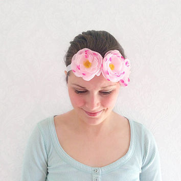 Flower Crown Head Piece, Floral Headband, Floral Bridal Wear, Shabby Chic, Teen Gift Ideas, Fashion Accessories, Hair Band, Hair Accessories