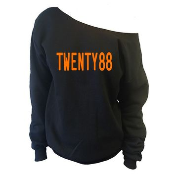 TWENTY88 Off-The-Shoulder Oversized Slouchy Sweatshirt