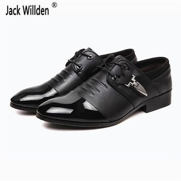 Jack Willden Hot Men's Lace-Up Leather Shoes Fashion Mens Dress Business Office Flats Man Casual Driving Oxfords EUR Size 38-47
