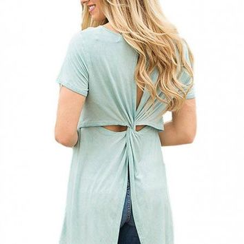 Twisted Back Fly Away Top