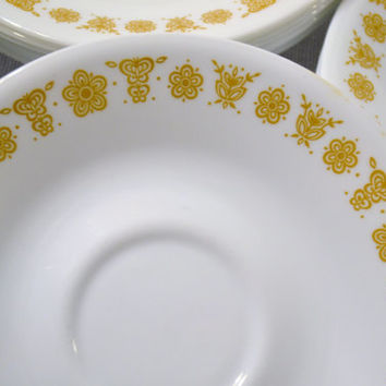 Corelle Butterfly Gold Saucer Set of 18 Replacement  PanchosPorch