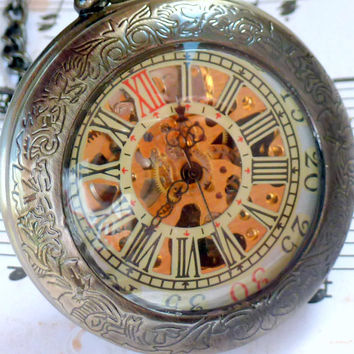 Steampunk Captain NEMO pocket watch key by UmbrellaLaboratory