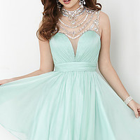 Short Illusion Sweetheart Open Back Hannah S Dress