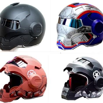 Masei Iron Man ABS Motocross DOT Approved Motorcycle Helmet