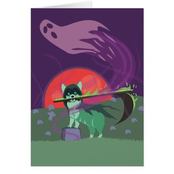 Grim Reaper Puppy Card