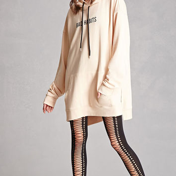 Faux Lace-Up Opaque Tights