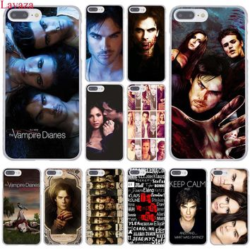 Lavaza the Vampire Diaries Hard Coque Shell Phone Case for Apple iPhone 8 7 6 6S Plus X 10 5 5S SE 5C 4 4S Cover