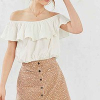 BDG Tilly Printed Twill A-Line Skirt