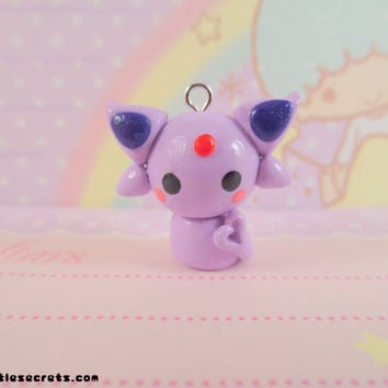 Pokemon Espeon Chibi Kawaii Charm by NerdyLittleSecrets on Etsy