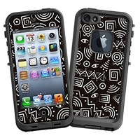 Black and White Tribal Skin  for the iPhone 5 Lifeproof Case by skinzy.com