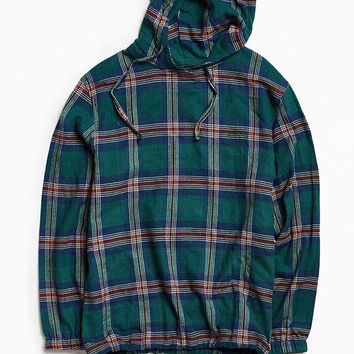 Stussy Plaid Flannel Hooded Poncho | Urban Outfitters