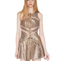 Party sequin dress- metallic sequin dress - 30's dress -$88
