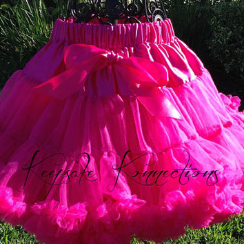 Hot Pink Pettiskirt - Tutu - Petticoat - baby tutu- Skirt - Kids - Pettiskirt - hot pink petti skirt - Photo Prop -Baby pettiskirt