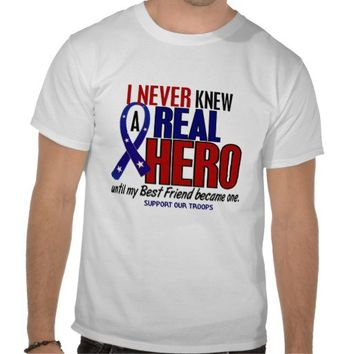 Never Knew A Hero 2 Best Friend (Support Our Troop Tee Shirt from Zazzle.com