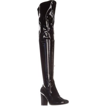Kenneth Cole Angelica Over-The-Knee Boots, Black, 9 US / 40 EU