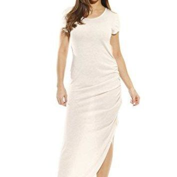 Just Love Short Sleeve Dress with Ruched Side Summer Dresses