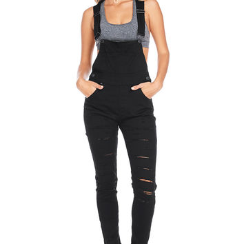 Stray Cuts Skinny Overalls