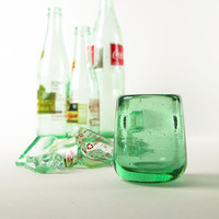 Eco New Years Gift Shot Glass Recycled Blown Bottle Glass