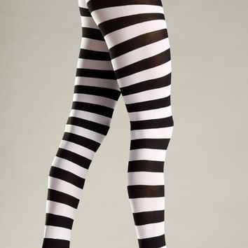 Bewicked Female Wide Stripes Opaque Tights BW679BW