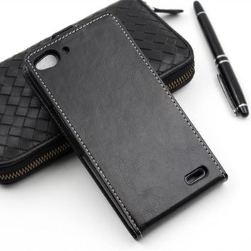 Business Style Luxury Flip PU Leather Case Cover for Vodafone Smart ultra 6 V995N Card Holder Cases Phone Accessories