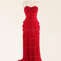 Red prom dresses, long prom dress, prom dresses 2014, cheap prom dress, chiffon prom dresses, cheap bridesmaid dresses, RE282