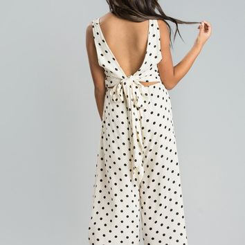 Bailey Cream Polka Dot Jumpsuit