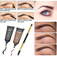 Professional Brand Makeup 1pcs Mascara For Eyebrows Paint Brush + 2pcs Brown Waterproof Tint My Brows Eyebrow Henna Makeup Set
