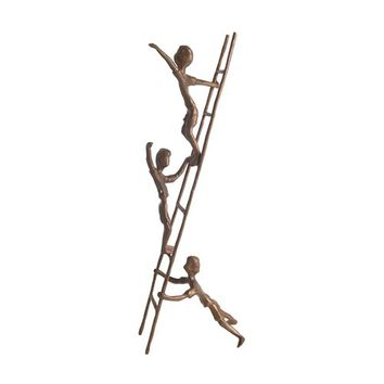 Danya B. ZD6720 Children On Ladder Cast Bronze Statue