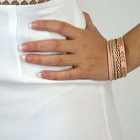 Pink Faux Leather Bracelet