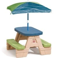Step2 Sit & Play Jr Picnic Table with Umbrella, Beige 841800