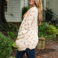 True To Myself Cardigan, Ivory