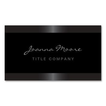 Elegant stylish satin gray border black Double-Sided standard business cards (Pack of 100)