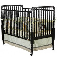 Dream On Me Jenny Lind Crib in Black - 666-K