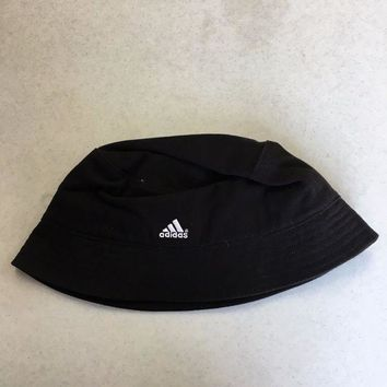 54ab2f30aa1 BRAND NEW ADIDAS BLACK DOUBLE LOGO BUCKET HAT SMALL MED
