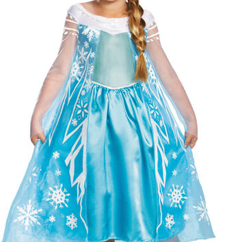 toddler girl's costume: frozen elsa deluxe | 3t-4t