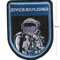 Space Explorer Iron / Sew On Embroidered Patch Badge Astronaut Embroidery nasa | eBay
