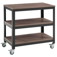 Vivify Tiered Serving Stand, Gray Walnut -Modway