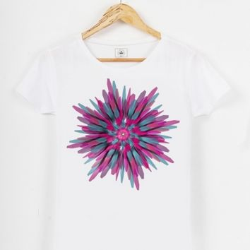 Bloom, womens t-shirt by Obvious Warrior @triaaangles.fr shop