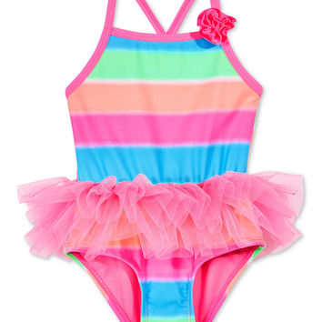 Angel Beach 1-Pc. Striped Tutu Swimsuit, Baby Girls (0-24 months) | macys.com