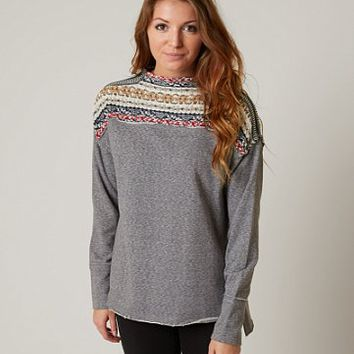 GIMMICKS MOCK NECK SWEATSHIRT