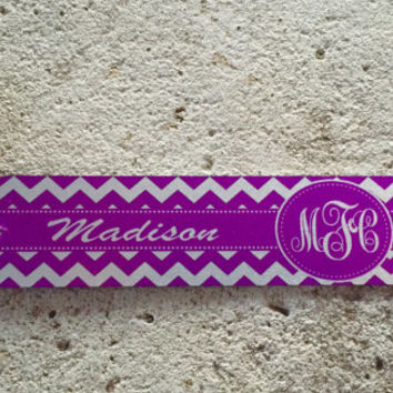 Chevron Bookmark with Monogram and Name