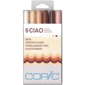 Copic Marker Ciao Markers, Skin, 6-Pack